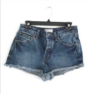 Free People High Waisted Denim Cutoff Shorts